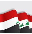 Iraqi waving Flag vector image vector image