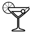 isolated cocktail icon vector image vector image