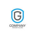 letter g logo concept vector image