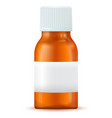 medical bottle brown container with white lid and vector image