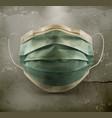 medical mask surgical mask on grunge background vector image