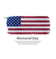 memorial day flag United States vector image vector image