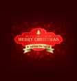merry christmas festive template vector image