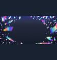 neon foil glitter metal foil effect hologram vector image vector image