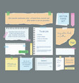 note paper with text vector image vector image