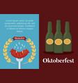 oktoberfest festival design with icon vector image