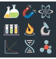 Physics science icons vector image vector image