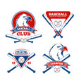 retro baseball sports badges for boys vector image vector image