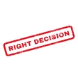 Right Decision Rubber Stamp vector image vector image