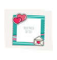 romantic photo frame vector image vector image