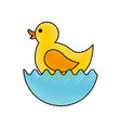 rubber duck toy icon vector image vector image