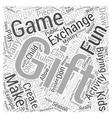 School christmas gift exchange games Word Cloud vector image vector image