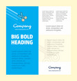 scissor business company poster template with vector image