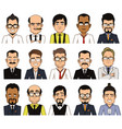 set of avatars businessman vector image vector image