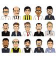 set of avatars businessman vector image