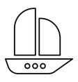 ship thin line icon boat vector image