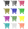 shopping basket sign vector image vector image