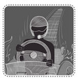 silhouette avatar driver vector image vector image
