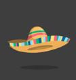sombrero icon mexican isolated hat cartoon cap vector image