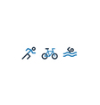 Sport activities icons running cycling and vector image vector image