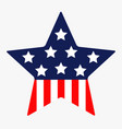 star shape american flag stars and strips icon vector image vector image