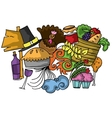 Thanksgiving element doodle art vector image vector image