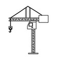 tower crane symbol vector image