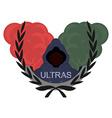 Ultras logoRed green vector image vector image