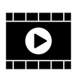 video player solid icon media player vector image vector image
