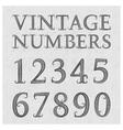 Vintage patterned numbers Numbers in floral vector image
