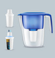 water filters realistic set vector image vector image