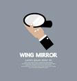 Wing Mirror Car Parts vector image vector image