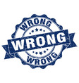 wrong stamp sign seal vector image vector image