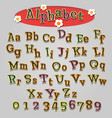 hand drawn cartoon alphabet vector image