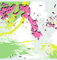 hand drawn dynamic print hipster modern vector image