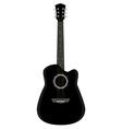 Black guitar vector image