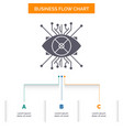 ar augmentation cyber eye lens business flow vector image vector image