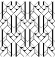 art deco pattern black white background vector image