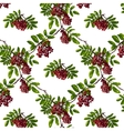 Ashberry Rhombic Branch Seamless Pattern with vector image