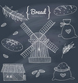 Bakery doodle set vector image vector image