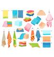 bath towel hand kitchen towels textile cloth vector image