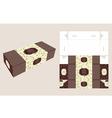 beautiful rectangle cake box vector image vector image