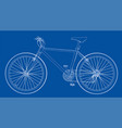 bicycle wire-frame style vector image vector image