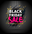 black friday flat background vector image vector image