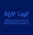 blue line sign designe letter set style vector image