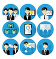 Business men concepts icon set vector image