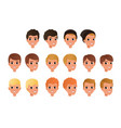 cartoon collection variety boy s hair styles vector image