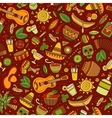 Cartoon hand-drawn latin american mexican vector image vector image