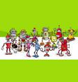 cartoon robots conceptual fantasy characters group vector image vector image