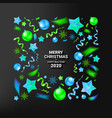 christmas background with beautiful border vector image vector image